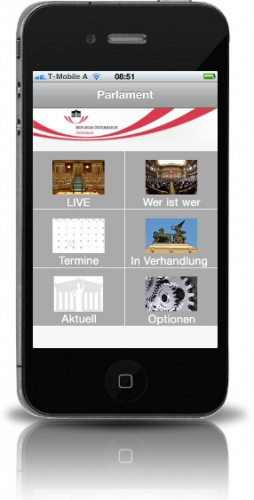 iPhone Applikation Parlament