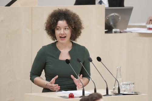 Am Rednerpult: Nationalratsabgeordnete Martha Bißmann (P)
