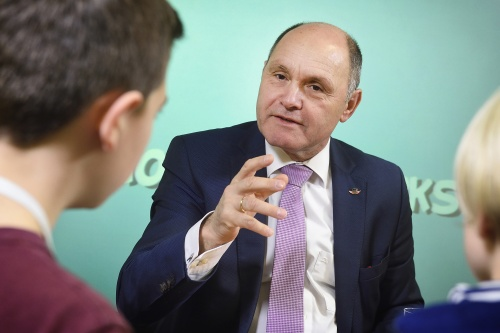 Workshop mit Nationalratspräsident Sobotka in der Demokratiewerkstatt