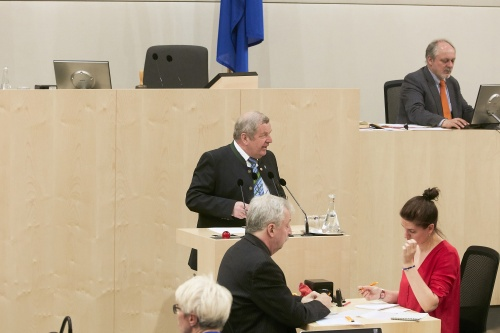 Bundesrat Gottfried Sperl (F) am Rednerpult