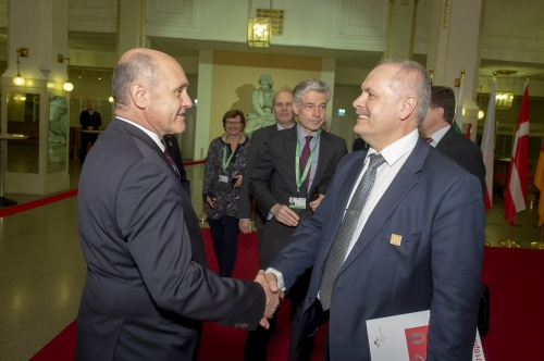 From left: President of the Austrian National Council Wolfgang Sobotka, President of the Riigikogu (Parliament of Estonia) Henn Põlluaas