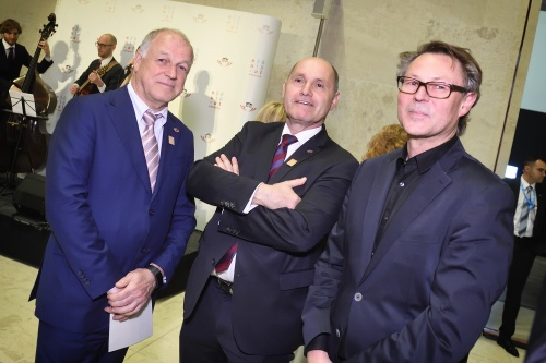 From left: President of the Austrian Federal Council Ingo Appé, President of the Austrian National Council Wolfgang Sobotka, Director of the Museum Leopold Hans-Peter Wipplinger