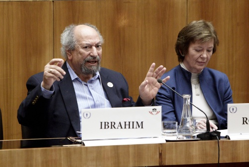v.li. Saad Ibrahim - Sociologist and Human Rights Activist und Mary Robinson - Former UN High Commissioner for Human Rights