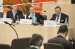 Von rechts: Michael Schneider, Chair of the European Committee of the Regions Subsidiarity Steering Group, John Watson, Director Smart Regulation and Work Programme European Commission, Marko Pomerants, Chair of the Constitutional Committee of the Estonian Parliament