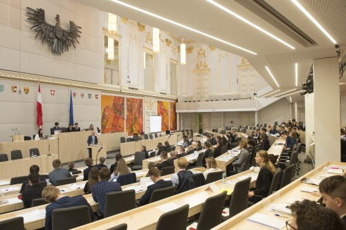 Tagung des Model European Parliament