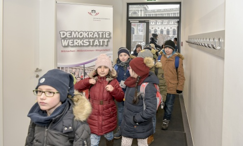 100.000ste/r BesucherIn in der Demokratiewerkstatt - Workshop